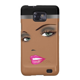 Bronze Beauty Pinup 3 Femme Fatale Diva Samsung Galaxy S2 Covers