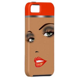 Bronze Beauty Pinup 5 Femme Fatale Diva iPhone SE/5/5s Case