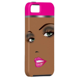 Bronze Beauty Pinup Femme Fatale Diva iPhone SE/5/5s Case