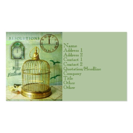 Bronze Birdcage Business Cards