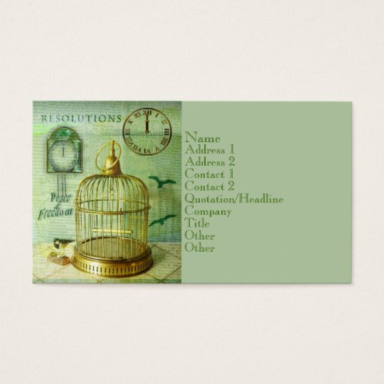 Bronze Birdcage Business Card