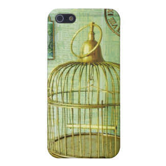Bronze Birdcage Case For iPhone SE/5/5s