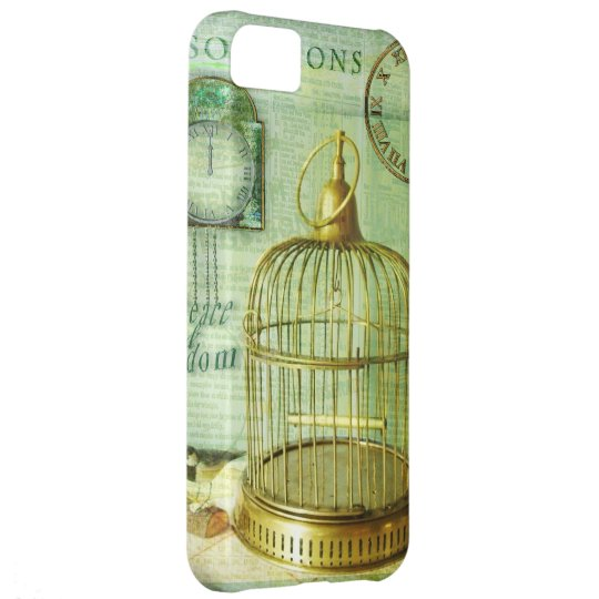Bronze Birdcage Cover For iPhone 5C