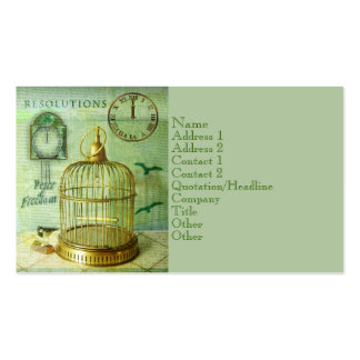 Bronze Birdcage Double-Sided Standard Business Cards (Pack Of 100)
