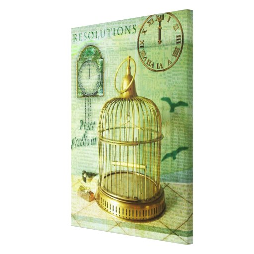 Bronze Birdcage Gallery Wrapped Canvas
