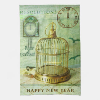 Bronze Birdcage Kitchen Towel