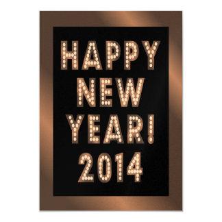 Bronze Black Happy New Year 2014 Party Invitations