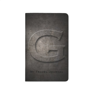 Bronze Black Metal G Monogram Pocket Journal