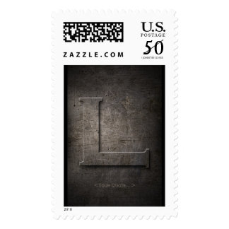 Bronze Black Metal L Monogram Stamp + Your quote..
