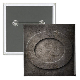 Bronze Black Metal O Monogram square Button