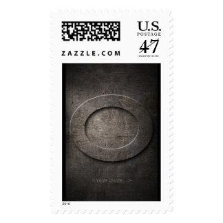 Bronze Black Metal O Monogram Stamp + Your quote..