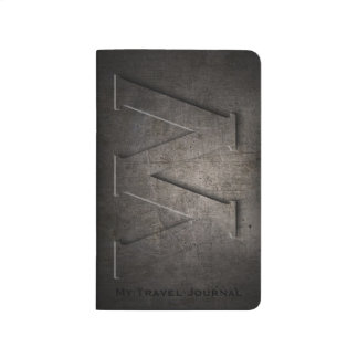 Bronze Black Metal W Monogram Pocket Journal