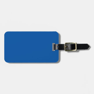 Bronze Blue Customizable Template Blank Luggage Tag