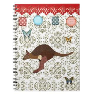 Bronze & Blush Wallaby Notebook