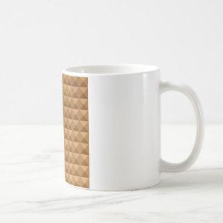 Bronze Brown Abstract Low Polygon Background Coffee Mug