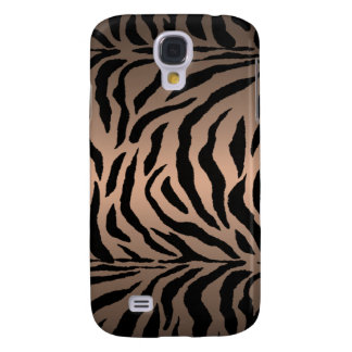 Bronze Brown Zebra Stripe Shine i Samsung S4 Case