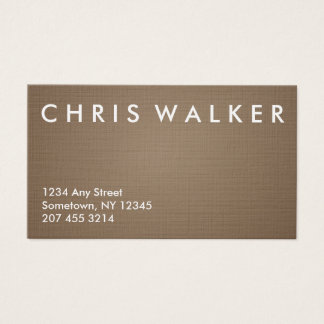Bronze brushed metal texture business cards