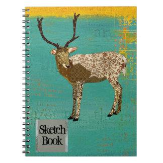 Bronze Buck Teal Sketch Notebook
