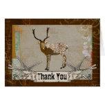 Bronze Buck Thank You Card