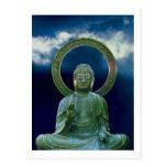 Bronze Buddha photo painting postcard