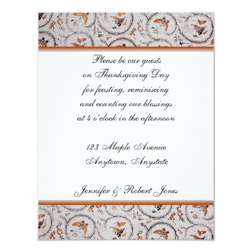Bronze Butterfly and Brown Fish on Ecru Background Card