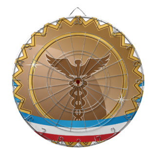 Bronze Caduceus Medical Star Ribbon Badge Icon Dart Board