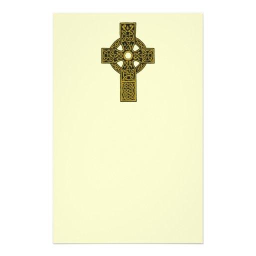 Bronze Celtic Cross Stationery