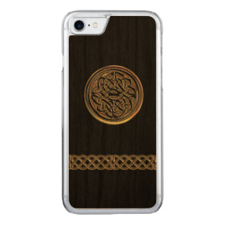 Bronze Celtic Knot Black Wood iPhone 6 Carved iPhone 7 Case