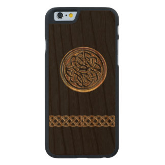 Bronze Celtic Knot Black Wood iPhone 6 Case Carved® Cherry iPhone 6 Slim Case