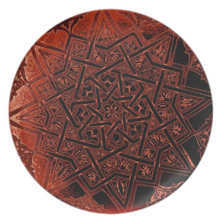 Bronze Celtic Pattern Melamine Plate