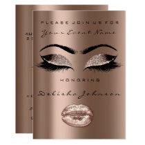Bronze Chocolate Black Glitter Bridal 16th Card