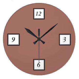 Bronze Classic Colored Large Clock