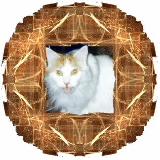 Bronze-Colored Fractal Art Circular Frame Cut Outs