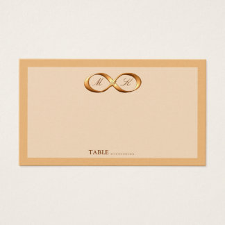 Bronze Copper Infinity Hand Clasp Wedding Place Ca Business Card