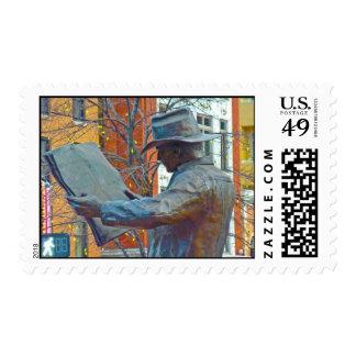 Bronze Cowboy Postage Stamp