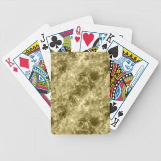 Bronze Crumpled Texture Bicycle Playing Cards