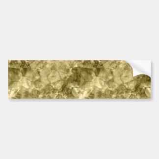 Bronze Crumpled Texture Bumper Sticker