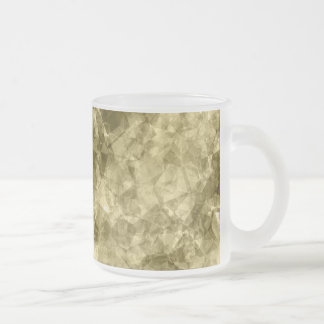 Bronze Crumpled Texture Frosted Glass Coffee Mug