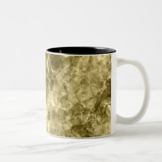 Bronze Crumpled Texture Two-Tone Coffee Mug