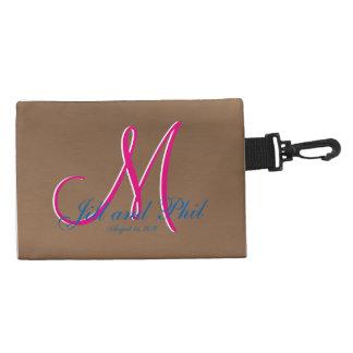 Bronze Dark 3d Monogram Accessory Bag