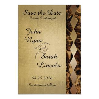 Bronze Diamond Wedding Design Card