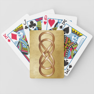Bronze Double Infinity on Gold Bicycle Playing Cards