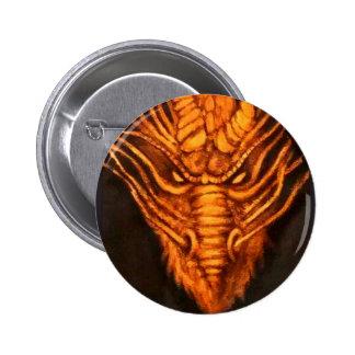 Bronze Dragon Head Pinback Button