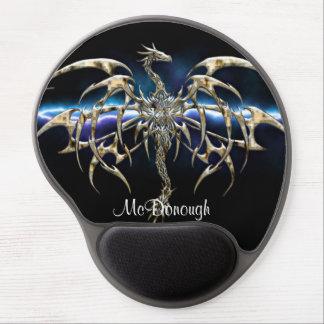 Bronze Dragon on Lightning Sky Gel Mouse Pad