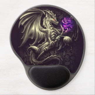 Bronze Dragon with Rose Gel Mousepad