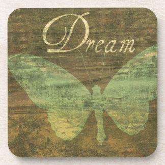 Bronze Dream Butterfly Coaster Set
