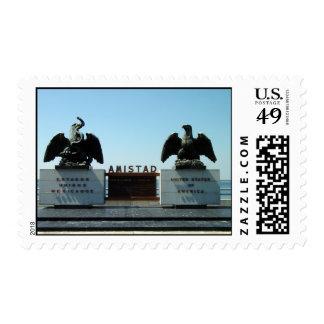 Bronze Eagles on top Amistad Dam Postage