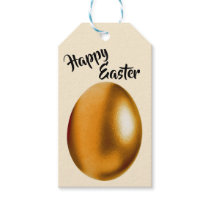 Bronze Easter Egg Gift Tag