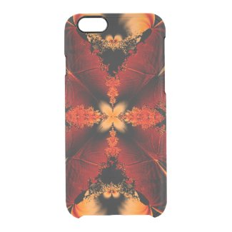 Bronze Feather Fractal Uncommon Clearly™ Deflector iPhone 6 Case