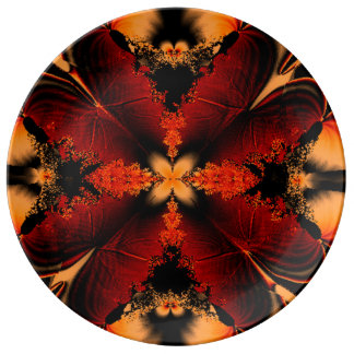 Bronze Feather Fractal Plate